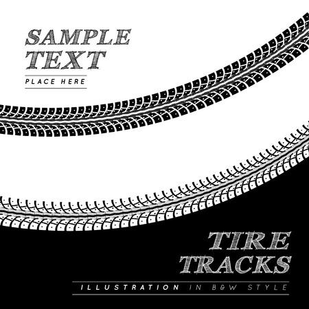 tire marks: Tire tracks