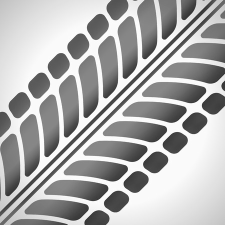 Tire tracks. Vector illustration on light grey background