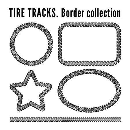 tyre tread: Tire tracks
