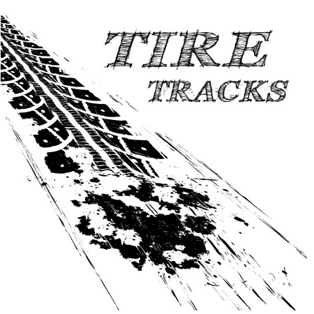 tire marks: Tire tracks