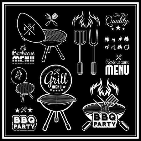 barbecue fire: Barbecue grill