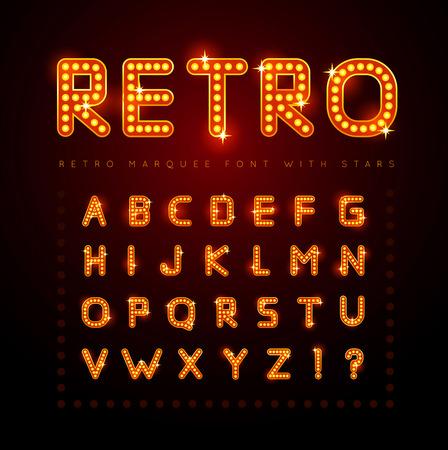Retro font Stock Illustratie