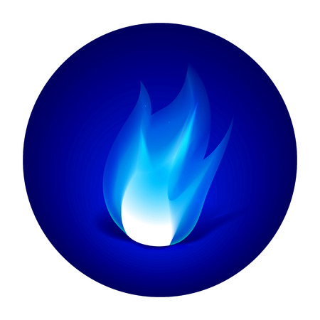gas flame: Gas fire icon