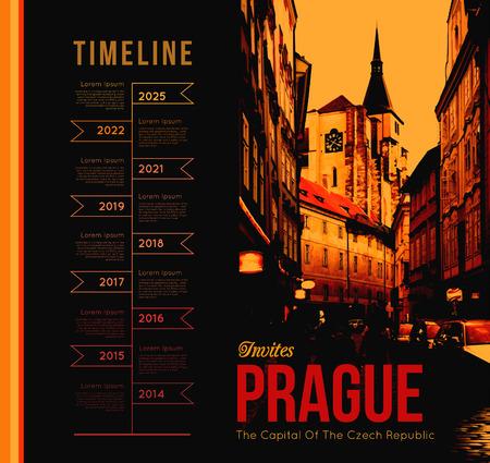 Prague city Vector