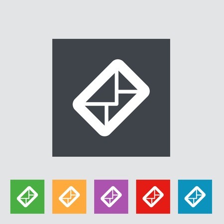 Envelope flat icon. Vector