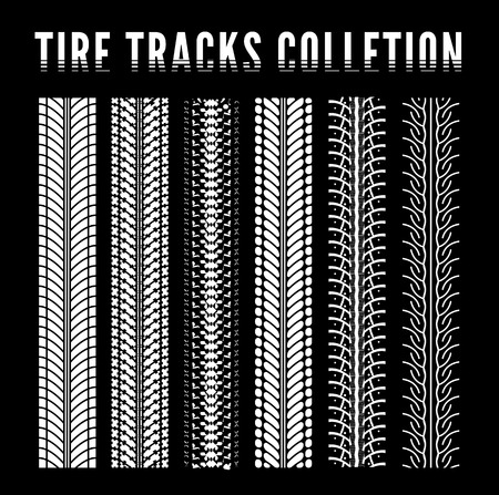 skid marks: Tire track collection