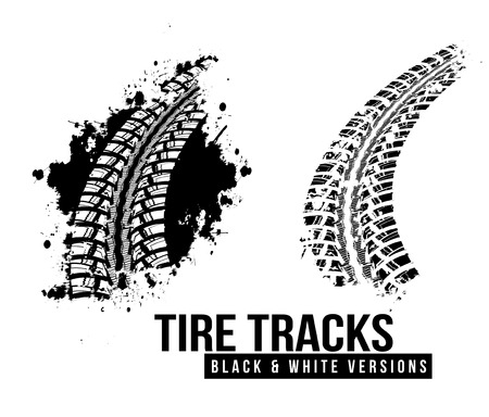 Tire track background Stock Vector - 32807244