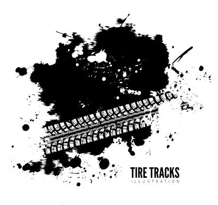 skid: Tire track background