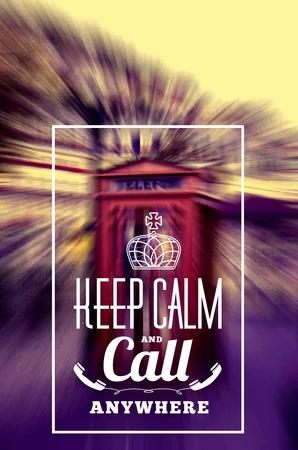 phone box: Keep Call Phone Box Illustration
