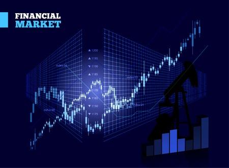 bursatil: Mercado Stock Vector Gráfico