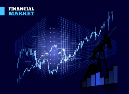 Stock Market Vector Diagramm