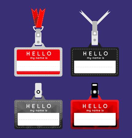 nametag: Flat name tag