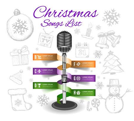 carol singer: Christmas Microphone infographics