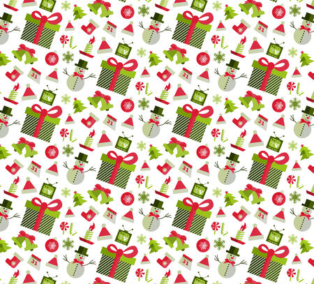 christmas seamless pattern: Seamless pattern with Christmas elements