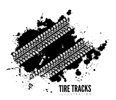 tire marks: Tire track background