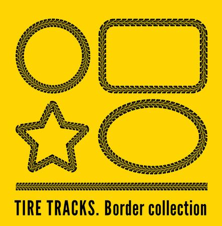 tire treads: Tire tracks
