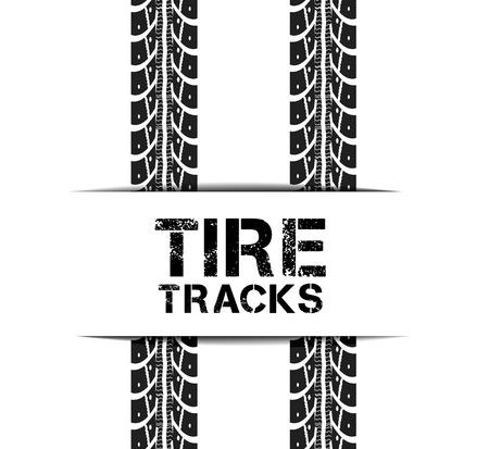 car wheels: Tire tracks