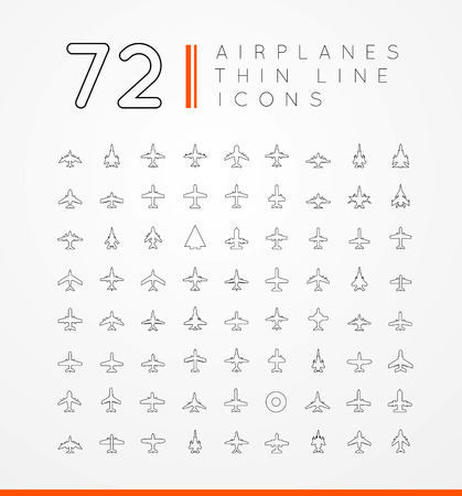airplain: vector icons of airplanes
