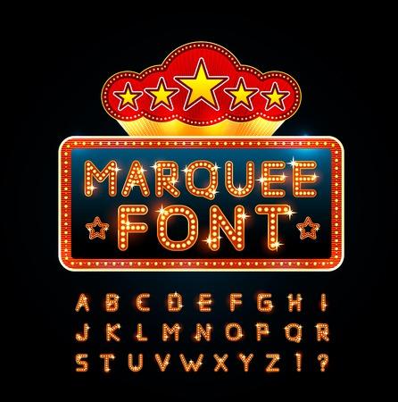 Retro font Vectores