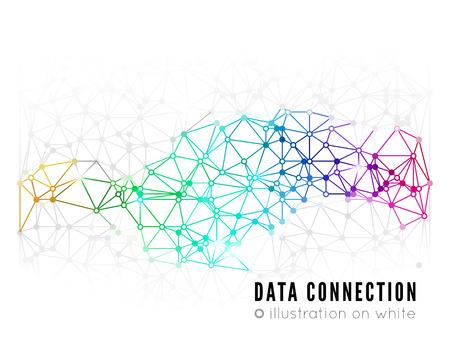 Abstracte netwerk verbinding achtergrond Stock Illustratie