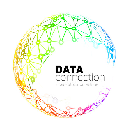 dna icon: Abstract network connection background