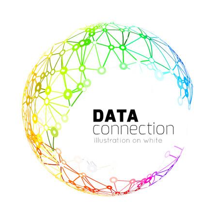 onderzoek: Abstracte netwerk verbinding achtergrond Stock Illustratie