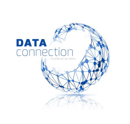 tecnologia informacion: Fondo abstracto de conexi�n de red Vectores