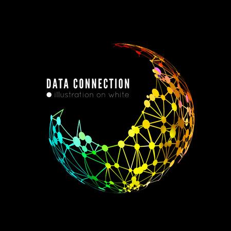 evolucion: Fondo abstracto de conexión de red Vectores