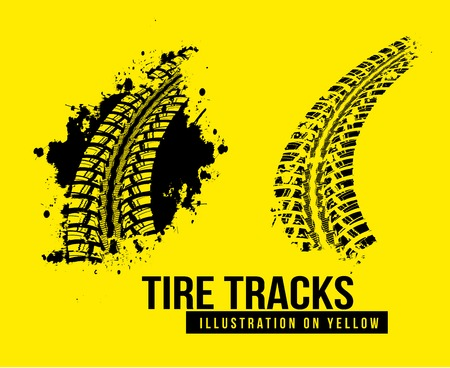 tire tread: Tire track background