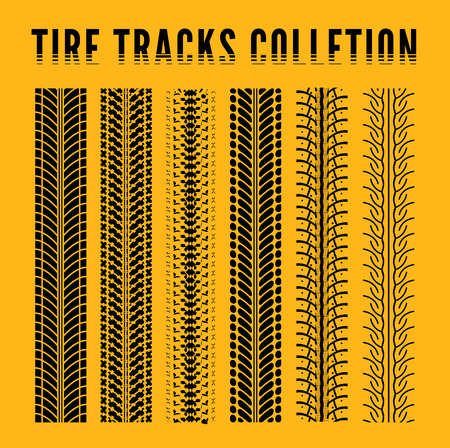skidding: Tire track collection