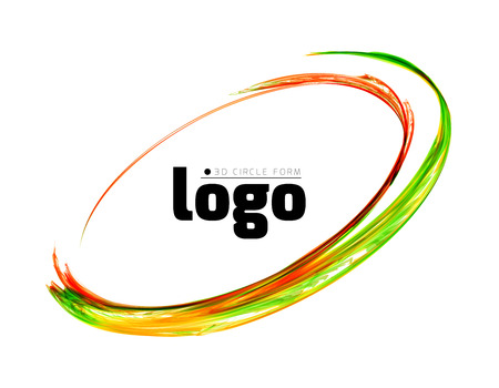 abstract logos: Colorful circle vector illustration