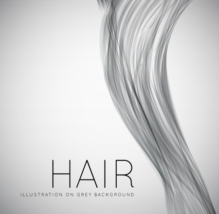 hair curl: Closeup of long human hair Illustration