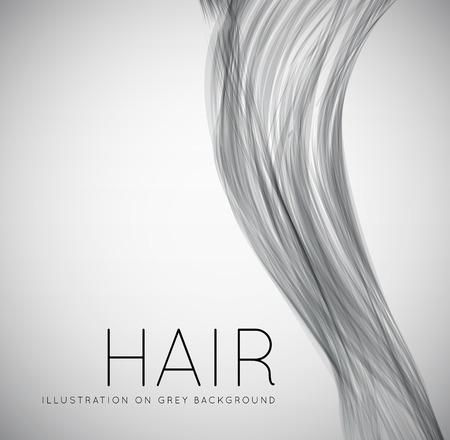 Closeup of long human hair Vettoriali
