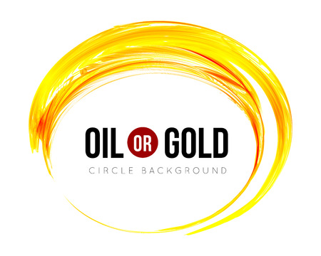 gold swirls: Oil or gold Illustration