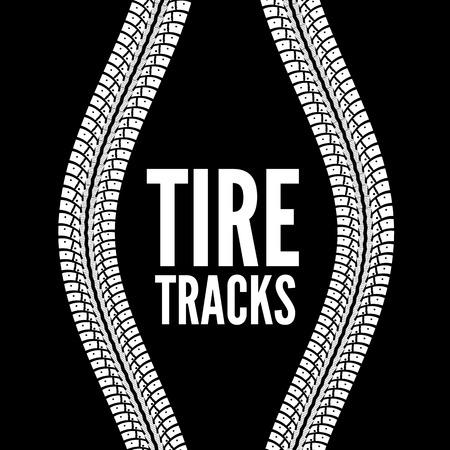 racing track: Tire tracks