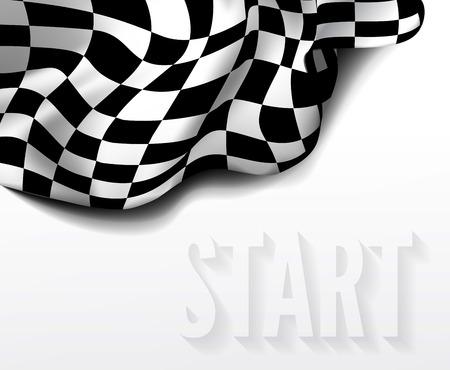 bandera carrera: bandera a cuadros la carrera Vectores