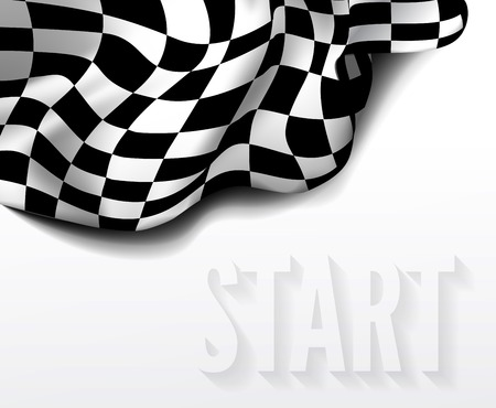 race start: checkered race flag