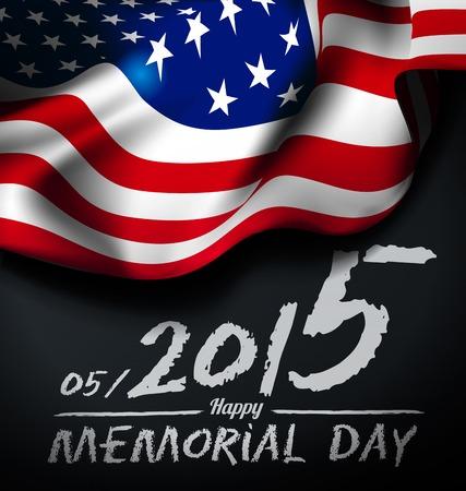 Ilustración del día de Memorial Vectores