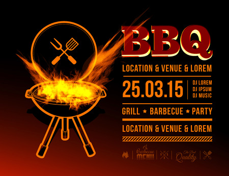 grill meat: BBQ party Illustration