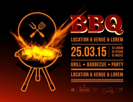 BBQ party Ilustração