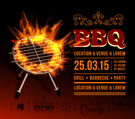 BBQ party Ilustrace