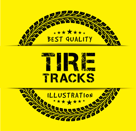 tire cover: Tire tracks