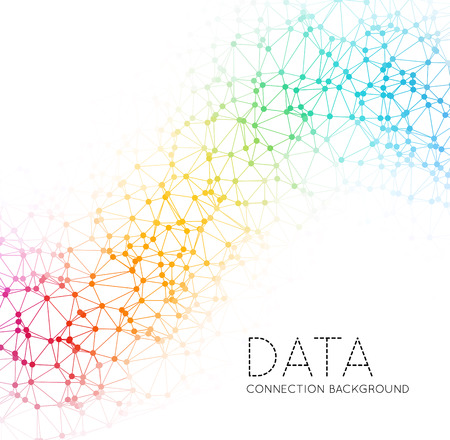 Punkte mit Verbindungen, Dreiecke hellen Hintergrund Standard-Bild - 38614425