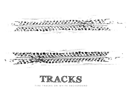 Tire tracks background
