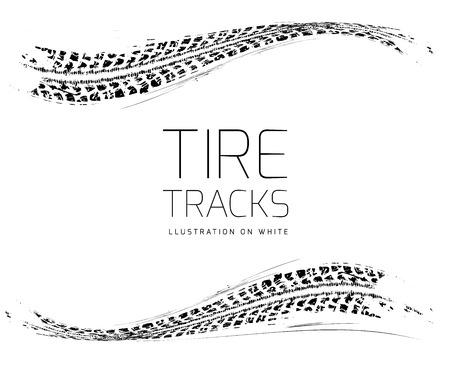 tyre tracks: Huellas de neum�ticos fondo Vectores