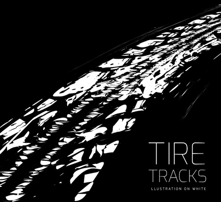 tire tracks: Tire tracks background