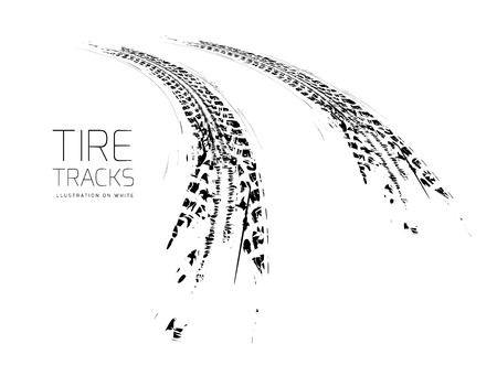 races: Tire tracks background
