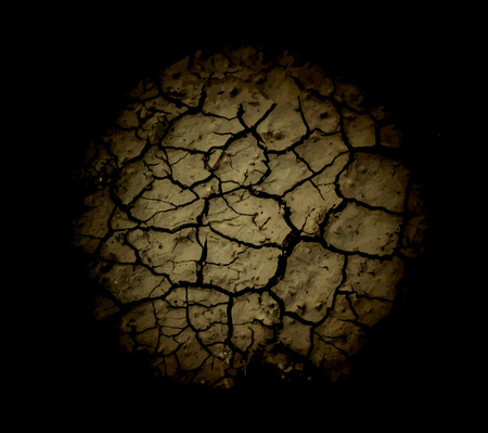 cracked earth: The cracks texture. Vector background. Illustration