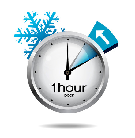hands  hour: Clock switch to winter time