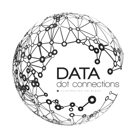 connecting: Abstract network connection background